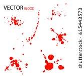 set of bloody textures...   Shutterstock .eps vector #615443573