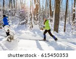a young woman cross country... | Shutterstock . vector #615450353
