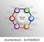 infographic design template can ... | Shutterstock .eps vector #615460823