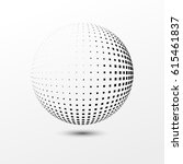 abstract dotted sphere.... | Shutterstock .eps vector #615461837