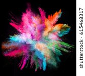 colored powder explosion on... | Shutterstock . vector #615468317