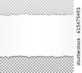 realistic vector torn paper... | Shutterstock .eps vector #615475493