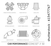 car performance   icons set.... | Shutterstock .eps vector #615477767