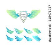 abstract gradient color wings'... | Shutterstock .eps vector #615478787