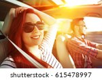 summer time and two people in... | Shutterstock . vector #615478997