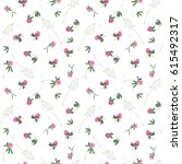 seamless pattern with flowers... | Shutterstock . vector #615492317