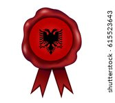 albanian wax seal   Shutterstock .eps vector #615523643