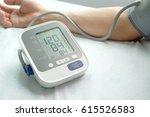 human check blood pressure... | Shutterstock . vector #615526583