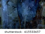 colorful blue abstract... | Shutterstock . vector #615533657