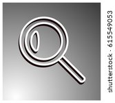 magnifying glass vector icon | Shutterstock .eps vector #615549053