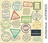 Colorful Vintage Postage Stamp...