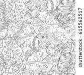 tracery seamless pattern.... | Shutterstock .eps vector #615562517