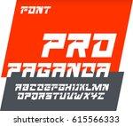 propaganda font abc alphabet set | Shutterstock .eps vector #615566333