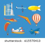air vehicles  missile with base ... | Shutterstock .eps vector #615570413