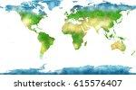 world map  hand drawn ... | Shutterstock . vector #615576407
