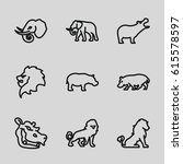 safari icons set. set of 9... | Shutterstock .eps vector #615578597