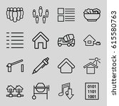 site icons set. set of 16 site... | Shutterstock .eps vector #615580763