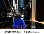 3d printing machine during work ... | Shutterstock . vector #615586613