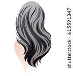 illustration of women long hair ... | Shutterstock .eps vector #615591347