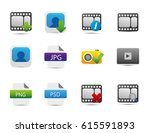 photography icons | Shutterstock .eps vector #615591893