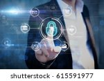 cyber security concept.business ... | Shutterstock . vector #615591977