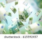 euro bills falling  money...