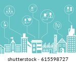 business management icons with... | Shutterstock .eps vector #615598727