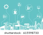 engineering and construction... | Shutterstock .eps vector #615598733