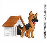 friendly dog of the german...   Shutterstock .eps vector #615600953
