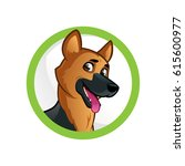 friendly dog of the german...   Shutterstock .eps vector #615600977