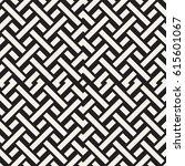 interlacing lines maze lattice. ... | Shutterstock .eps vector #615601067