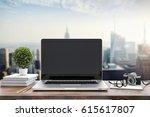 3d render of modern computer... | Shutterstock . vector #615617807