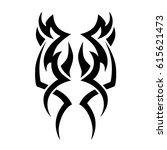 tattoo sketch tribal vector... | Shutterstock .eps vector #615621473