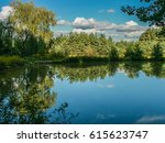 lake in the forest | Shutterstock . vector #615623747