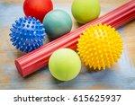 self massage and reflexology... | Shutterstock . vector #615625937