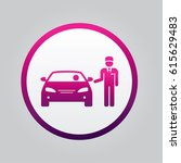 valet parking icon. isolated... | Shutterstock .eps vector #615629483