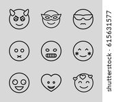emoticon icons set. set of 9... | Shutterstock .eps vector #615631577