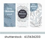set of greeting card templates... | Shutterstock .eps vector #615636203