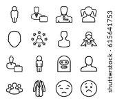 avatar icons set. set of 16... | Shutterstock .eps vector #615641753