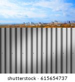 background of an iron fence... | Shutterstock . vector #615654737