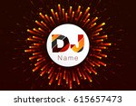 logo dj vector template design | Shutterstock .eps vector #615657473