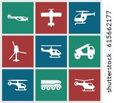helicopter icons set. set of 9... | Shutterstock .eps vector #615662177