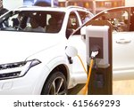 power supply for electric car... | Shutterstock . vector #615669293