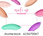 cosmetic liquid foundation and... | Shutterstock .eps vector #615670067