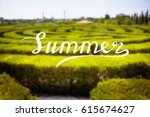 blurred summer background with... | Shutterstock . vector #615674627