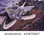 3d rendering and design ... | Shutterstock . vector #615676067