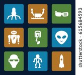 futuristic icons set. set of 9... | Shutterstock .eps vector #615684593