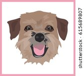 Icon With Border Terrier Dog....