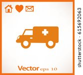 medical vehicle. icon.   Shutterstock .eps vector #615692063