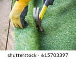 artificial grass  turf... | Shutterstock . vector #615703397